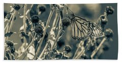 Resting Butterfly Bw Hand Towel