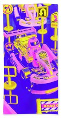 Retro Race Day Bath Towel