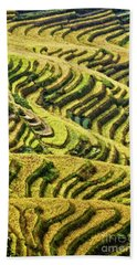 Rice Terraces In China Bath Towel