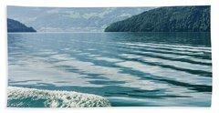 Ripples On Lake Lucerne Bath Towel