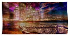 Rising Tide On The Hudson Montage Hand Towel