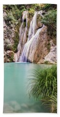 River Neda Waterfalls Bath Towel