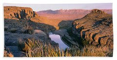 River Passing Through Mountains, Big Hand Towel