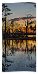 Riverside Sunset Hand Towel