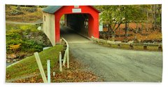 Road To The Green River Covered Bridge Hand Towel