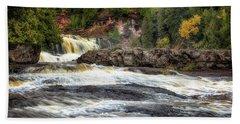 Roaring Gooseberry Falls Bath Towel