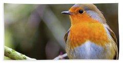 Robin. On Guard Bath Towel