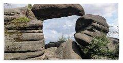 Rock Gate In The Nature Reserve Broumov Walls Bath Towel