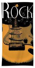 Rock Guitar Music Notes Hand Towel