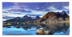 Rock Reflection Landscape Hand Towel