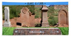 Rockville Utah Cemetery Work A Hand Towel