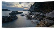 Rocky Coast Near Dubrovnik Hand Towel