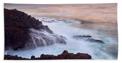 Hand Towel featuring the photograph Rocky Creek by Whitney Goodey