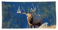 Rocky Mountain Bull Elk Bugling Bath Towel