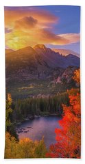 Rocky Mountain Sunrise Bath Towel