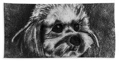 Rocky The Dog Portrait Hand Towel