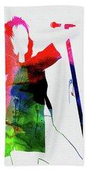 Rod Stewart Watercolor Hand Towel