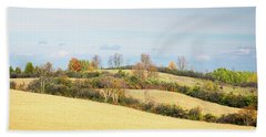 Rolling Hills In Fall Hand Towel