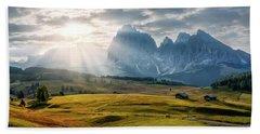 Rolling Hills Of Alpe Di Siusi Hand Towel