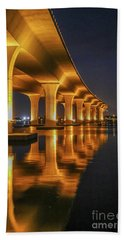 Roosevelt Bridge Portrait Bath Towel