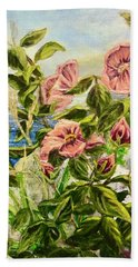Rosa By The Sea Hand Towel