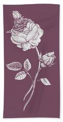 Rose Purple Flower Bath Towel