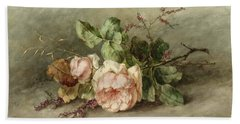 Roses, 19th Century Hand Towel