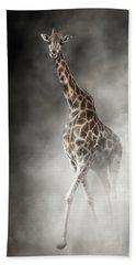 Rothschilds Giraffe In The Dust Hand Towel
