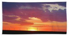Round Barn Sunset Hand Towel
