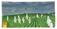 Rows Of Green March 2019 Hand Towel