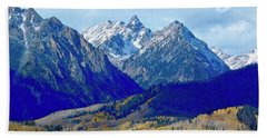 Bath Towel featuring the photograph Rugged Peaks by Dan Miller