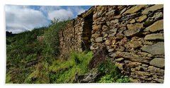 Ruins Of A Schist Cottage In Alentejo Hand Towel