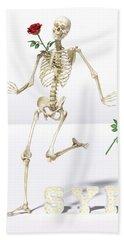 Running Rose Skeleton Hand Towel