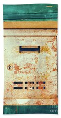 Rusted Mailbox Hand Towel