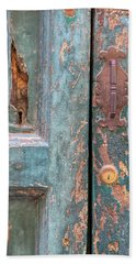 Rustic Green Door Of Cortona Hand Towel