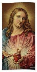 Sacred Heart Of Jesus By Batoni Bath Towel