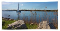Sailing On The Cape Cod Canal Hand Towel