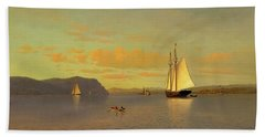 Sailing On The Hudson Near Nyack, 1872 Hand Towel