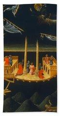 Saint Nicholas Of Tolentino Saving A Shipwreck Bath Towel