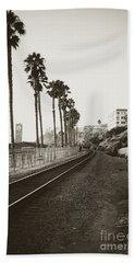 San Clemente Train Tracks Hand Towel