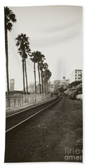 San Clemente Train Tracks Bath Towel