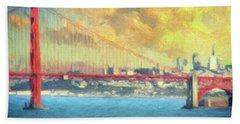 San Francisco City Skyline Bath Towel