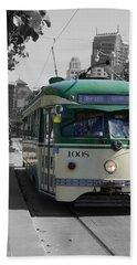 San Francisco - The E Line Car 1008 Bath Towel