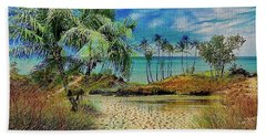 Sand To The Shore Montage Hand Towel