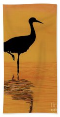Sandhill - Crane - Sunset Hand Towel