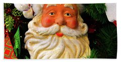 Santa Clause In The Tree Hand Towel