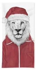 Santa Lion  Bath Towel