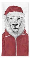 Santa Lion  Hand Towel