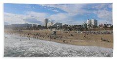 Santa Monica Beach, Santa Monica, California Hand Towel