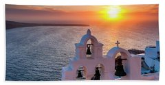 Santorini Sunset Hand Towel